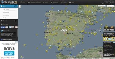 mapa de aviones en tiempo real
